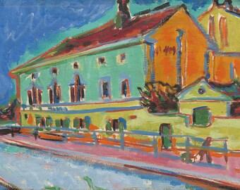 "Ernst Ludwig Kirchner : ""Dance Hall Bellevue"" (1909/1910) - Giclee Fine Art Print"