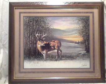 Vintage Home Interior Picture Big Buck In The Woods