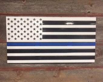 Blue Lives Matter Flag/ White Background