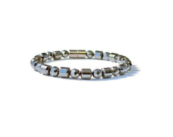 Magnetic Hematite Therapy Bracelet for Men, Pain Relief Jewelry