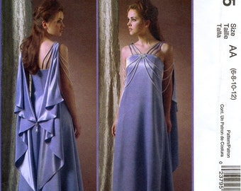 McCall's M4995 Costumes Sewing Pattern for Star Wars Misses' Queen Amidala Padme Dress and Drape - Uncut - Size 6, 8, 10, 12