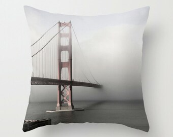 Golden Gate Bridge Photo Pillow Cover Cushion Cover 18x18 or 22x22