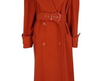 GEORGES RECH Full Length Burnt Orange Coat (L)