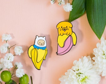 Bananya/Adventure Time Enamel Pin Set
