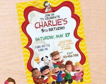 Peanuts invitation, Charlie Brown invitation, Snoopy invitation, peanuts, charlie brown, snoopy, digital invitation, printable invitation