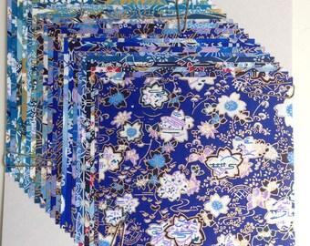 Japanese WASHI paper Origami YUZEN Chiyogami, 20 sheets, 10x10cm (Y016)