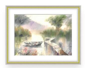 Watercolor Silence, WonderfulWatercolor,Amazing watercolor, easel watercolor,drawing watercolor,, recognized master,Original painting