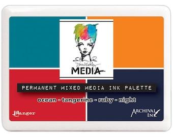 Ranger - Dina Wakley Distress Mixed Media Ink Palette - Archival Ink, #AMP47711