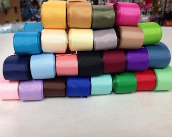 "7/8"" x 125 yard Grosgrain Assortment 5 yards of each 25 colors"