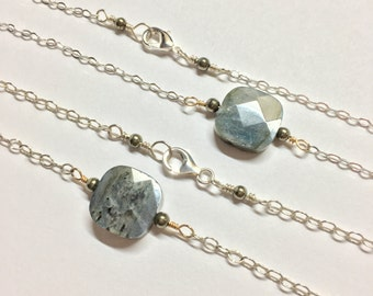 Labradorite & Pyrite Necklace