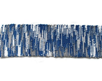 Königsblau Tischläufer, die grau weiß Chanukka modernes Land Bauernhaus Küche Handwerker Upcycled T-Shirts 12 x 36 gestrickt enthalten--US-Versand