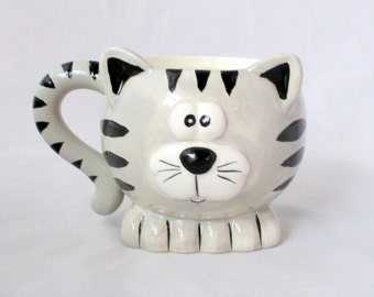 Cat decor, Cat candle mug, animal candle, best friends gift, large mug candle, unique gift, hand poured candle, decorative candle