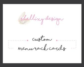 Custom Graphic Design | Menu Rack Cards Design