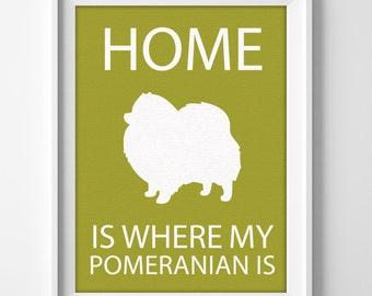 Pomeranian Custom Name Pet Portrait Art Print
