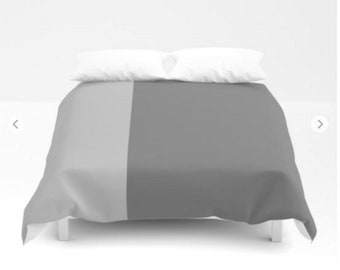 Gray Duvet Covers in full, twin, queen and king - FREE Shipping!