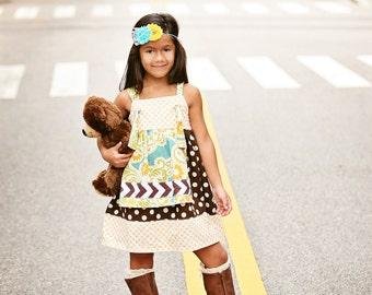 "Knot Dress Pattern, Girls Dress Pattern, PDF Sewing Patterns, Easy Dress Pattern, Dress Patterns, Baby Dress Patterns, 6m-12 ""Ava Dress"""
