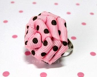 Cute Polka Dot Flower Drop - Pink