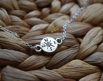 small compass anklet | wanderlust anklet | not all who wander are lost anklet | ankle bracelet | graduation gift | charm anklet | travel