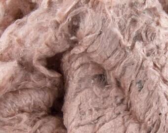 Sumptuous Silk mega pack 50g dyed tussah silk noils flush pink