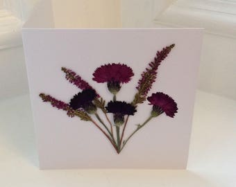Pressed Flower Cards / Greetings Card for all Occasions