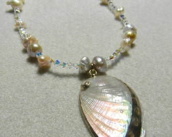 Swarovski Crystal and Shell Necklace