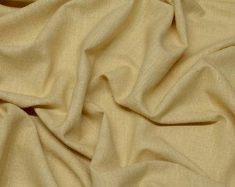 "Cream Butter Gauze Silk 100% Raw Silk Fabric, 44"" Wide, By The Yard (WT-201)"