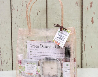 Patchouli Clovebud Large Gift Set - Mesh Tote - Green Daffodil