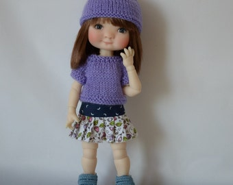 1. Sweater & Hat - PDF Knitting Pattern for Patti/Tella by Meadows Dolls
