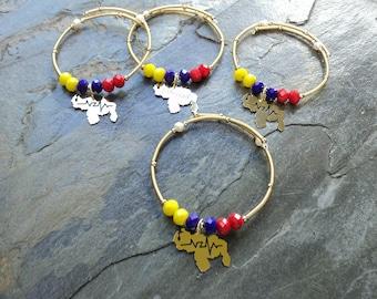 bracelet Adjustable with Map of Venezuela Medium / bracelet Austable with medium Venezuela map