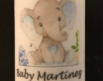 Baby Shower Favors,  Grey and pink elephant favors, Candle Favors,  Favors, Whale themed Favors, Baptism , Holy Communition Favors