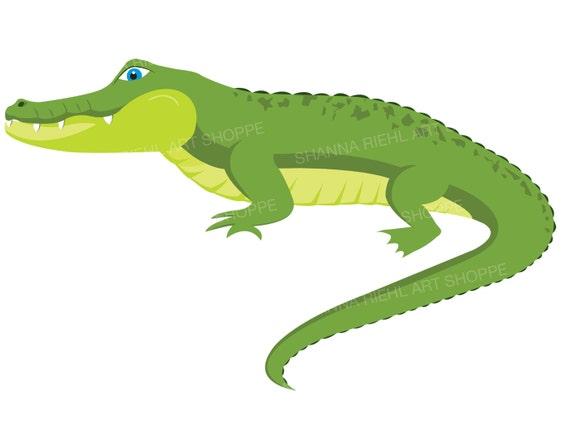 alligator clipart crocodile digital download art rh etsy com alligator clip art outline alligator clip art images