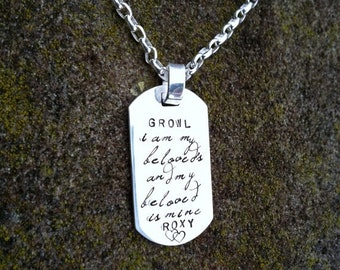 LIMITED TIME SALE Custom Thick Sterling Silver Men's Dog Tag Dogtag Necklace - personalize with your own names, dates, or words