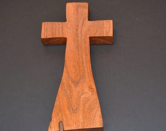 """Wood Wall Cross;4""""x8""""x1"""";Christian Gift;Baptism, Christening; Confirmation; Sympathy; Easter; Graduation; Free Ground Shipping cc20-5022417"""