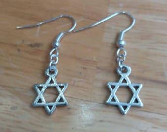 Star of David earrings - Jewish earrings