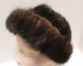 Vintage Betmar New York - Paris Brown Fur Hat. A Mid Century Classic!