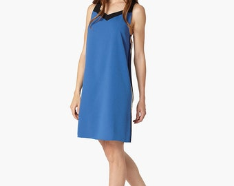 Dark Blue Shift Summer Dress