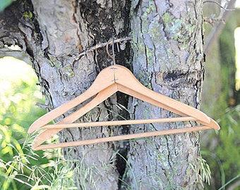 5 Vintage Wooden Hangers