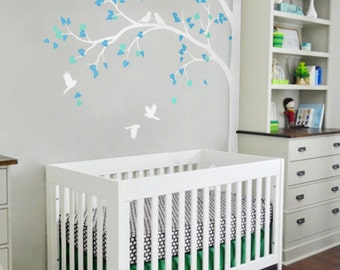 Large Tree Nature Vinyl Wall Tree Decal Nursery Wall Decals Vinyl Wall  Stickers   Tree Wall