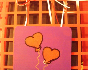 Cute Valentine Heart Coaster Wall Hanging #8