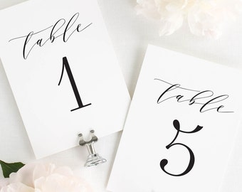 Amelia Table Numbers - 5x7""