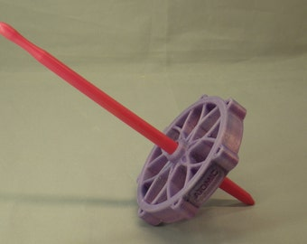 Gradient and Glitter Atomic Flower Bottom Whorl 3D Printed Spindle