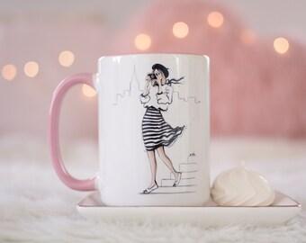 Fashion Coffee Mug, Chanel Inspired, Photographer Gift, Unique Coffee Mug, Chic Mug, Coffee Lover Mug, Fashionista Mug
