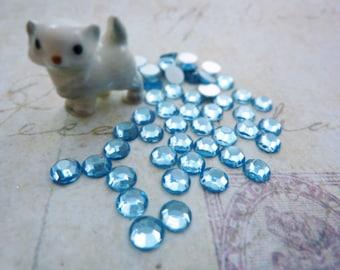 Vintage SS20 4.8mm Glass Chaton Rose Light Sapphire (50)