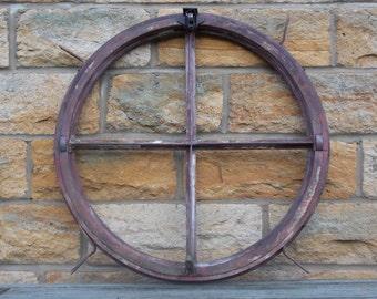 Vintage Round Factory Vent Window