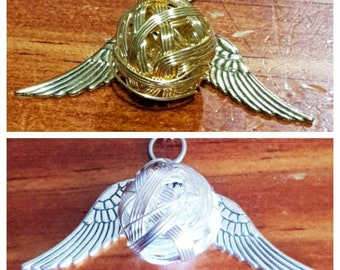 Harry Potter inspired 'Golden Snitch' necklace pendant