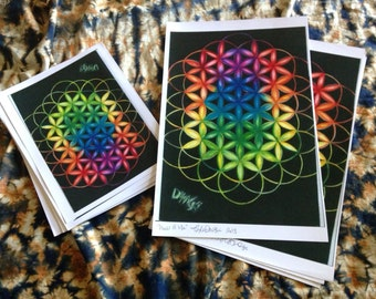 Flower of Life POSTER PRINT (10.00-20.00 SPECIAL!) Limited Time Only