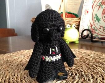 Darth Vader Inspired Amigurumi doll- MADE to ORDER- Star Wars Inspired dolls