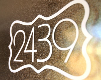 Address with Border 1 (Small) - Vinyl Decal