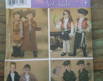 Child's Halloween/ Dress Up Costume Pattern -  sizes 3-8