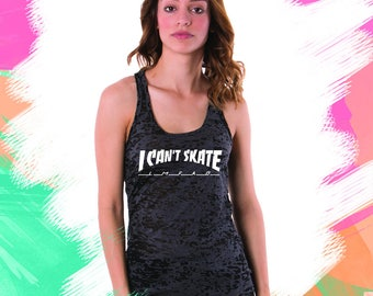 I Can't Skate Thrasher Magazine (WHITE) Woman Tank top Skater Magazine (For Customization contact us before you order)
